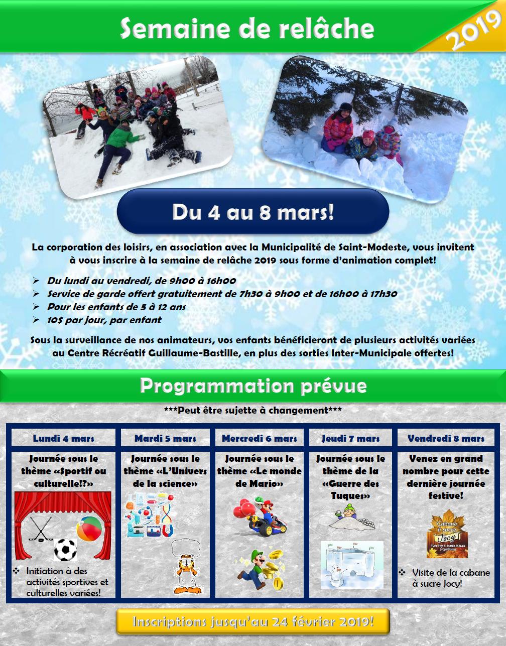 Semaine de relâche 2019_programmation (Auteur : Andrée-Anne Marcoux)
