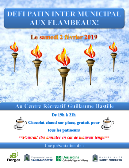 Défi Patin Inter-Municipal aux Flambeaux 2019 (Auteur : Andrée-Anne Marcoux)
