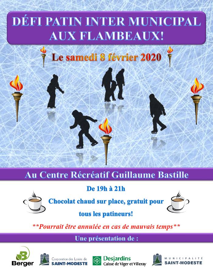 Défi Patin Inter-Municipal aux Flambeaux 2020 (Auteur : Andrée-Anne Marcoux)