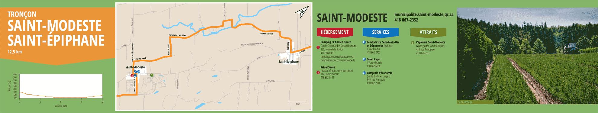 La Route des passants - Tronçon Saint-Modeste/Saint-Épiphane
