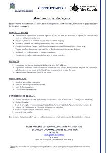Offre d'emploi_moniteur_terrain de jeux_20177